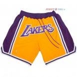 Los Angeles Lakers - Pantalon NBA Nike Retro Jaune 2018