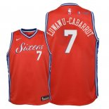 Philadelphia Sixers - Maillot Junior NBA Timothe Luwawu Cabarrot 7 Rouge Statement 2018
