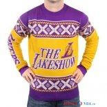 Los Angeles Lakers - NBA Unisex Ugly Sweater Jaune Pourpre