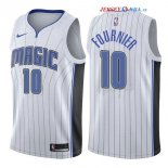 Orlando Magic - Maillot NBA Evan Fournier 10 Blanc Association 2017/2018