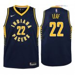 Indiana Pacers - Maillot Junior NBA T.J. Leaf 22 Marine Icon 2018