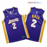 Los Angeles Lakers - Maillot Junior NBA Lonzo Ball 2 Ensemble Complet Pourpre
