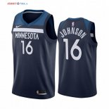 Minnesota Timberwolves-Maillot NBA James Johnson 16 Marine Icon 2019/2020