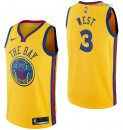 Golden State Warriors - Maillot NBA David West 3 Nike Jaune Ville 2017/2018