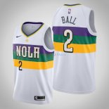 New Orleans Pelicans - Maillot NBA Lonzo Ball 2 Blanc Ville 2019-2020