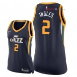 Utah Jazz - Maillot Femme NBA Joe Ingles 2 Marine Icon 2018