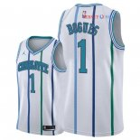 Charlotte Hornets - Maillot NBA Tyrone Bogues 1 Retro Blanc 2018