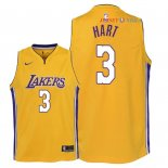 Los Angeles Lakers - Maillot Junior NBA Josh Hart 3 Jaune Icon 2018