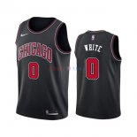 Chicago Bulls - Maillot NBA Coby White 0 Noir Statement 2019-2020