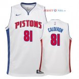 Detroit Pistons - Maillot Junior NBA Jose Calderon 81 Blanc Association