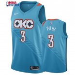 Oklahoma City Thunder - Maillot NBA Chris Paul 3 Bleu Ville 2019-20