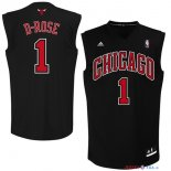 Chicago Bulls - Maillot NBA Derrick Rose 1 Noir Rouge