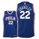 Philadelphia Sixers - Maillot Junior NBA Wilson Chandler 22 Bleu Icon 2018