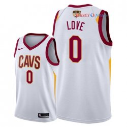 Cleveland Cavaliers - Maillot NBA Kevin Love 0 Blanc Association Patch 2018 Finales Champions