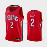 New Orleans Pelicans - Maillot NBA Lonzo Ball 2 Rouge Statement 2019-2020