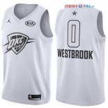 2018 All Star - Maillot NBA Russell Westbrook 0 Blanc