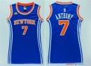 New York Knicks - Maillot Femme NBA Carmelo Anthony 7 Bleu