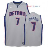 Detroit Pistons - Maillot Junior NBA Stanley Johnson 7 Gris Statement
