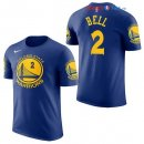 Golden State Warriors - Maillot NBA Jordan Bell 2 Bleu Manche Courte 2017/2018