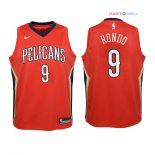New Orleans Pelicans - Maillot Junior NBA Rajon Rondo 9 Rouge Statement 2018