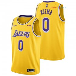 Los Angeles Lakers - Maillot NBA Kyle Kuzma 0 Jaune 2018/2019