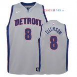 Detroit Pistons - Maillot Junior NBA Henry Ellenson 8 Gris Statement