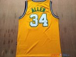 Seattle Supersonics - Maillot NBA Ray Allen 34 Retro Jaune