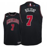 Chicago Bulls - Maillot Junior NBA Justin Holiday 7 Noir Statement 2018