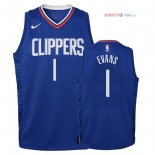 Los Angeles Clippers - Maillot Junior NBA Jawun Evans 1 Bleu Icon 2018