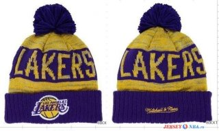 Los Angeles Lakers - 2016 Tricoter un Bonnet NBA Pourpre