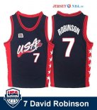 1996 USA - Maillot NBA David Robinson 7 Noir