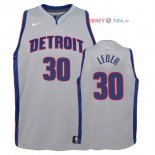 Detroit Pistons - Maillot Junior NBA Jon Leuer 30 Gris Statement