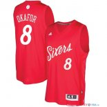 Philadelphi Sixers - Maillot NBA Jahlil Okafor 8 Rouge 2016 Noël