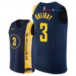 Indiana Pacers - Maillot NBA Aaron Holiday 3 Nike Marine Ville 2018