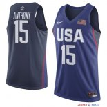2016 USA - Maillot NBA Carmelo Anthony 15 Bleu