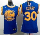 Golden State Warriors - Maillot Femme NBA Stephen Curry 30 Bleu Jaune