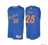 New York Knicks - Maillot NBA Derrick Rose 25 Bleu 2016 Noël