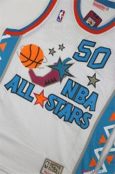 1996 All Star - Maillot NBA David Robinson 50 Blanc