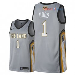 Cleveland Cavaliers - Maillot NBA Rodney Hood 1 Nike Gris Ville Patch 2018 Finales Champions