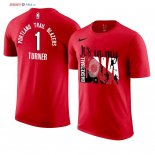 Portland Trail Blazers - T-Shirt NBA Evan Turner 1 Rouge