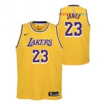 Los Angeles Lakers - Maillot Junior NBA Lebron James 23 Jaune Icon