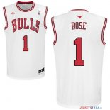 Chicago Bulls - Maillot NBA Derrick Rose 1 Blanc