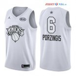 2018 All Star - Maillot NBA Kristaps Porzingis 6 Blanc
