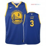 Golden State Warriors - Maillot Junior NBA Damion Lee 3 Bleu Icon 2018