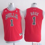 Chicago Bulls - Maillot Junior NBA Derrick Rose 1 Rouge