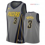 Indiana Pacers - Maillot NBA Aaron Holiday 3 Nike Gris Ville 2018/2019