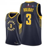 Indiana Pacers - Maillot NBA Aaron Holiday 3 Marine Icon 2018