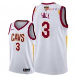 Cleveland Cavaliers - Maillot NBA George Hill 3 Blanc Association Patch 2018 Finales Champions