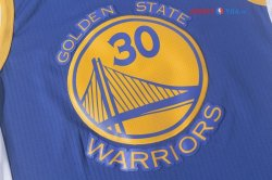 Golden State Warriors - Maillot NBA Stephen Curry 30 Bleu 2017/2018