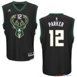 Milwaukee Bucks - Maillot NBA Jabari Parker 12 Noir